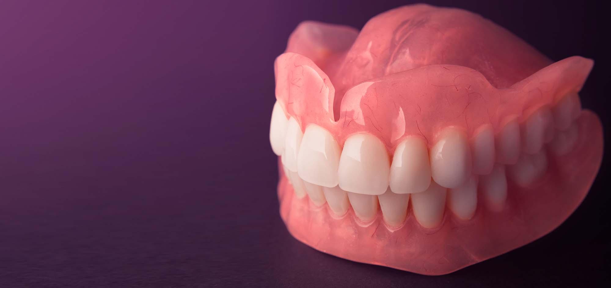 Full denture dentures close-up